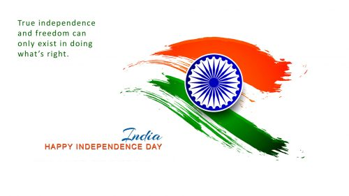 Independence Day Special HD Wallpaper with Quotes