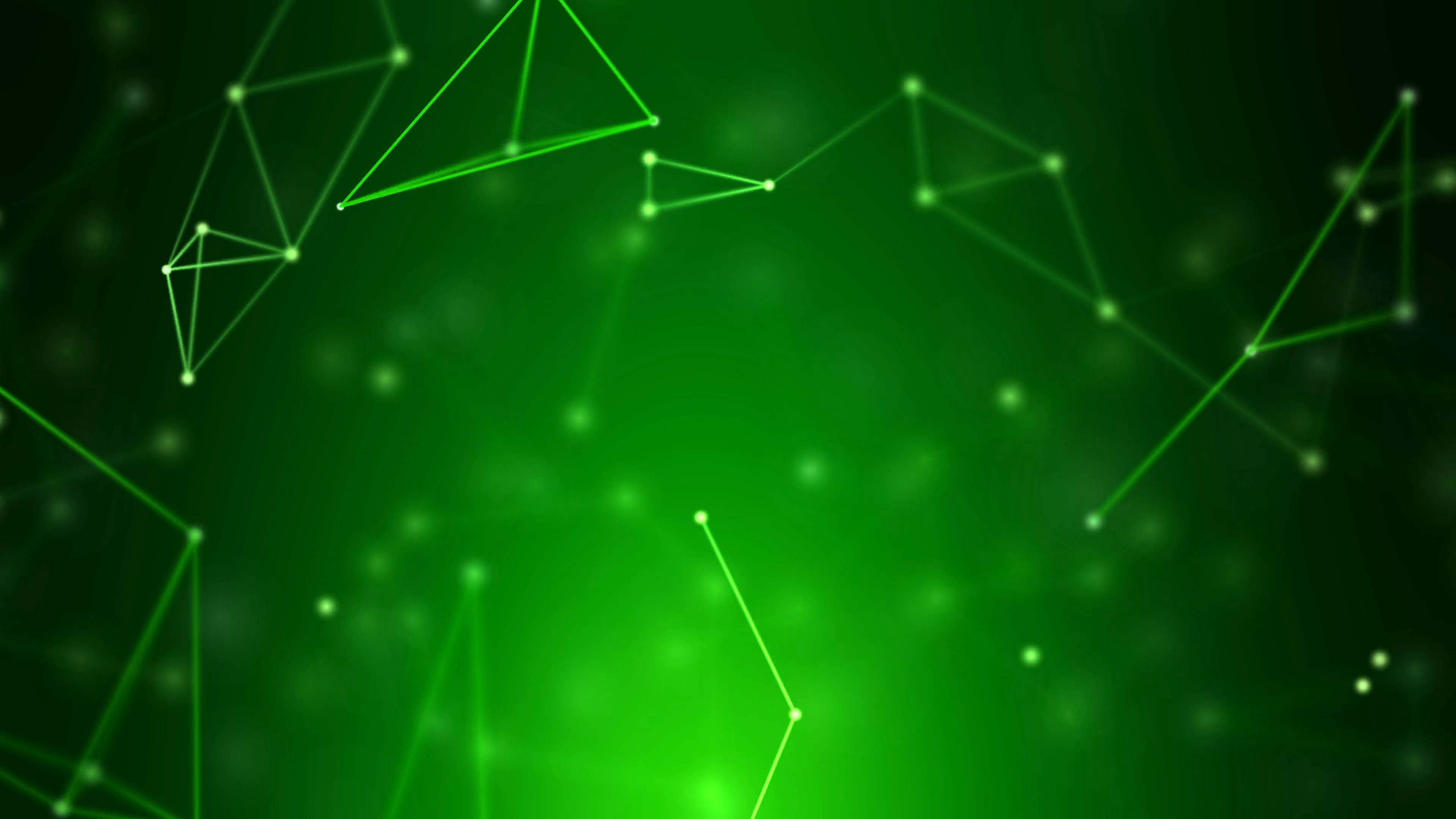 Green Wallpaper HD in 4K with Abstract Geometric Fractal Lines