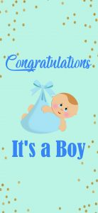 Congratulations Images Free Download for New Boy Baby Born with Blue Background