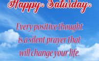 20 Best Saturday Thoughts and Short Quotes Wallpapers 02 - Every positive thought is a silent prayer