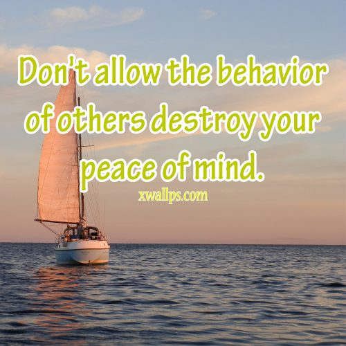 20 Best Saturday Thoughts and Short Quotes Wallpapers 01 - Don't allow the behavior of others