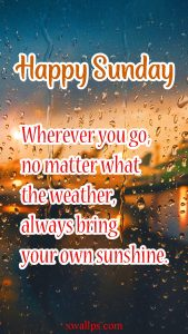 20 Best Short Quotes and Sunday Thought Wallpapers 01 - Always bring your own sunshine