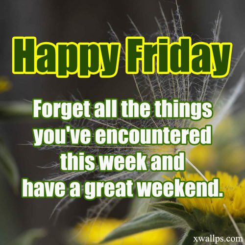 20 Best Thoughts of Friday and Inspiring Quotes 05 - Have a great weekend