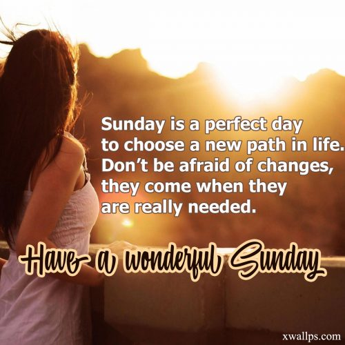 20 Best Short Quotes and Sunday Thought Wallpapers 02 - Sunday is a perfect day