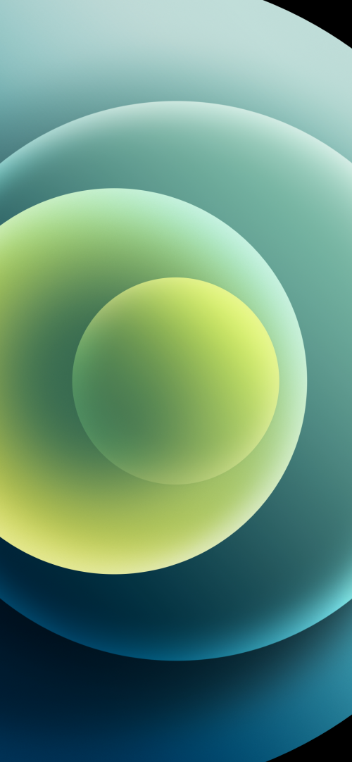 Apple iPhone 12 mini - iPhone 12 Pro - iPhone 12 Pro Max - iPhone 12 Wallpaper 06 - Green Light