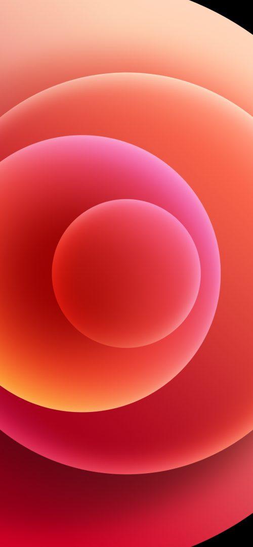 Apple iPhone 12 mini - iPhone 12 Pro - iPhone 12 Pro Max - iPhone 12 Wallpaper 08 - Red Light