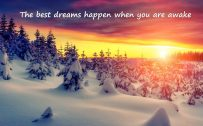 Best Motivational Quotes HD Wallpapers with Morning in the Snowy Winter
