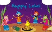 Free Download Lohri Festival Drawing For Kids