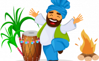 Free Lohri Festival Drawing Image in PNG