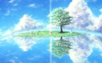 Nature Animated Wallpaper HD for Desktop with Anime Shelter Around The Lonely Tree