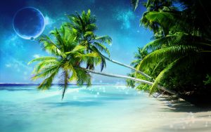 Nature-Animated-Wallpaper-HD-for-Desktop-with-Beautiful-Beach-and-Planets
