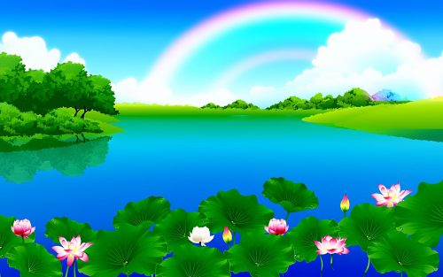 Nature Animated Wallpaper HD for Desktop with Beautiful Rainbow