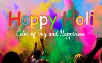 Happy Holi Celebration Greeting Card Design