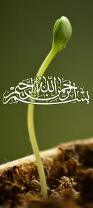 Islamic Wallpaper for Mobile Phone with Basmala Calligraphy