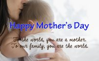 Short Quote for Happy Mother's Day Greeting Card Design