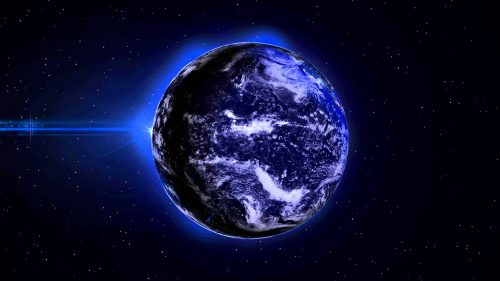 Nature Animated Wallpaper for Desktop Background with Picture of Earth Planet