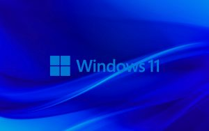 Abstract Blue Background for Windows 11 Wallpaper