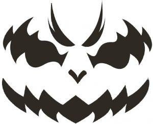 Free Download Printable Pumpkin Stencil for Halloween