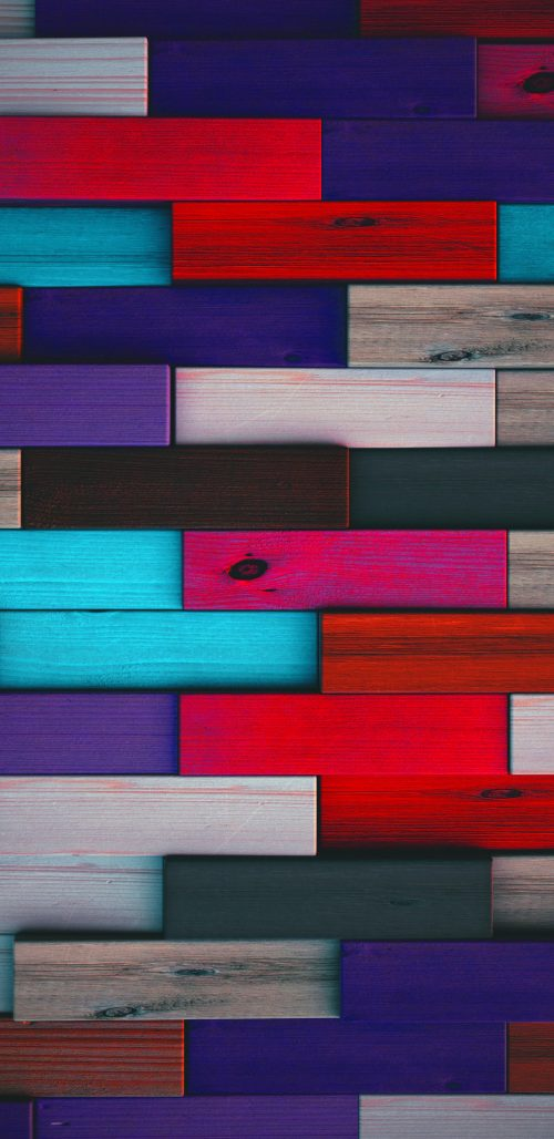 Full HD Wallpaper for Samsung Galaxy Phones with Colorful Wood Background