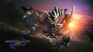 Monster Hunter Rise HD Wallpaper with Official Logo