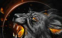 Badass and Cool Wallpapers for Mobile Phones 07 of 20 - Lion Head and Moon